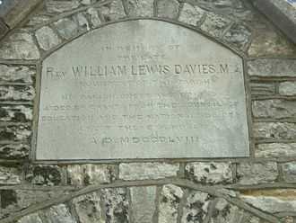 Peartree Green - Memorial stone at Peartree school