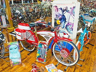 Pee-wee's Big Adventure - One of the prop bicycle used in the film on display at Bicycle Heaven.