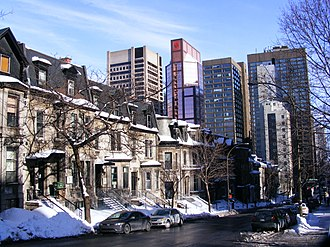 Peel Street, Montreal - Peel Street in the Golden Square Mile.
