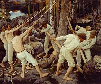 Karelia - Pioneers in Karelia, 1900. By Eero Järnefelt