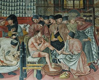 Medicine - The Hospital of Santa Maria della Scala, fresco by Domenico di Bartolo, 1441–1442