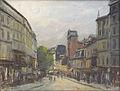 Pelletier P.J. - Pastel - Paris, Montmartre, la rue des abbesses - 48x62cm.jpg