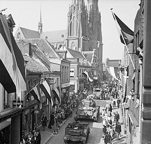 Black Book (film) - People in Eindhoven watching the allied forces enter the city following its liberation, similar to the depiction of the liberation in Black Book