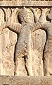 Persepolis Tomb of Artaxerxes II Mnemon (r.404-358 BCE) Upper Relief Macedonian soldier with labels.jpg
