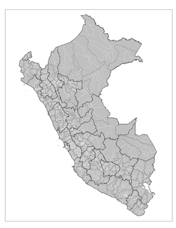Districts of Peru third level administrative subdivision of Peru