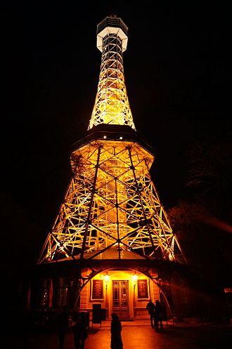 Petřín Lookout Tower - Petřín Lookout Tower at night