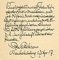 Peter Behrens, Autograph 1917.jpg