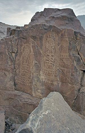 Chilas - Buddhist petroglyphs near Chilas