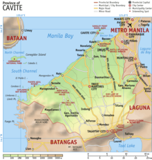 Map Of Cavite Province Philippines Cavite   Wikipedia