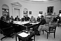 Photograph of President Gerald R. Ford Meeting with Advisers in the Oval Office to Discuss the Financial Situation in New York City - NARA - 7582443.jpg