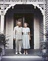 Photograph of President Harry S. Truman and Mrs. Bess Truman on the Porch of Their Independence, Missouri Home - DPLA - 08f15366285afb37db4b8345428cc7b9.jpg