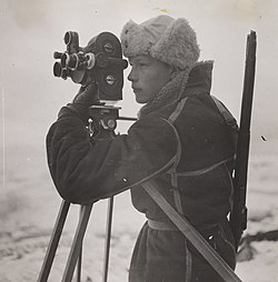Photographer Mattis Mathiesen at work on Jan Mayen (8385716965).jpg