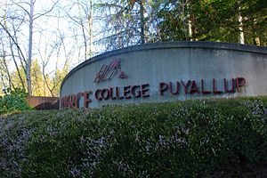 Pierce College - Entrance sign at Pierce College Puyallup