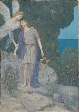 Pierre C. Puvis de Chavannes - The Poet - Google Art Project