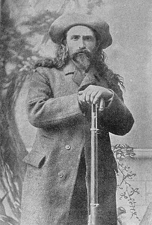 History of Quebec - Pierre Le Royer, one of the last active coureur des bois, in 1889.