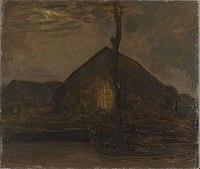 Piet Mondriaan - Gabled farm hut in the evening - 0334253 - Kunstmuseum Den Haag.jpg