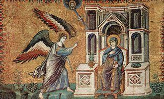 Pietro Cavallini - The Annunciation, Santa Maria in Trastevere