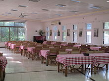 Dining room in kibbutz Ramat HaKovesh