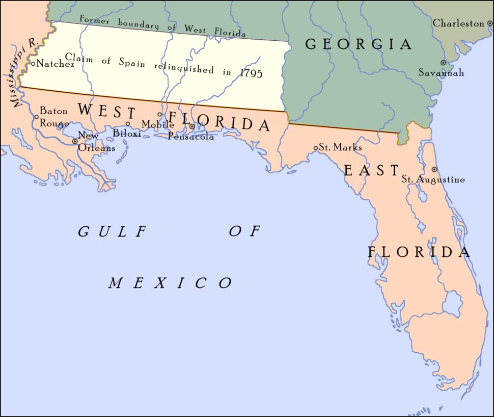 Pinckney's Treaty line 1795