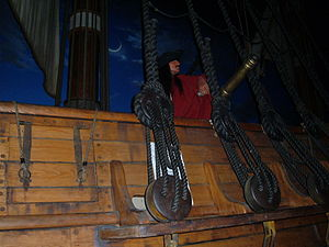 A mockup a 1716 pirate ship at the Pirates of ...