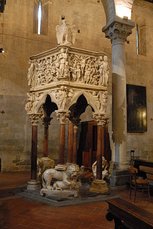Pulpit of Sant' Andrea, Pistoia (Giovanni Pisano) - Pulpit of St. Andrew.
