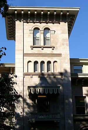Henry Austin (architect) - Tower of the John Pitkin Norton House, one of Austin's most developed works.
