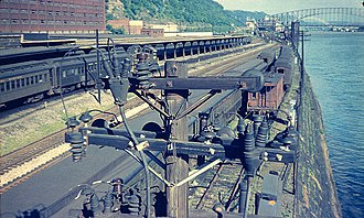 Station Square - Image: Pittsburgh Station Square area from Smithfield Bridge 1951