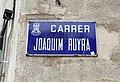 Placa carrer de Joaquim Ruyra (Vidreres).jpg