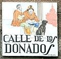 Placa de la calle de los Donaldos (17 de diciembre de 2016, Madrid).jpg