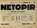 Plakat za predstavo Netopir v Narodnem gledališču v Mariboru 25. marca 1930.jpg