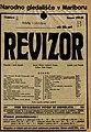 Plakat za predstavo Revizor v Narodnem gledališču v Mariboru 8. oktobra 1927.jpg