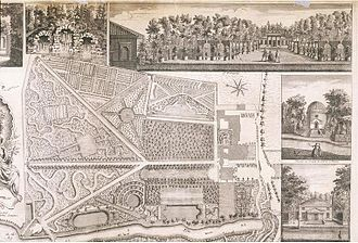 John Rocque - Image: Plan du Jardin et Vue des Maisons de Chiswick