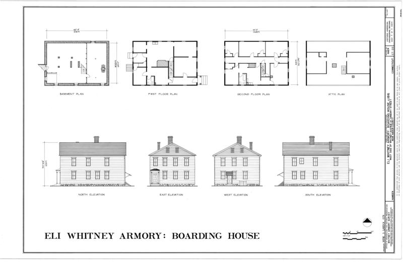 File Plans  Elevations   Eli Whitney Armory  Boarding House    File Plans  Elevations   Eli Whitney Armory  Boarding House  Whitney Avenue