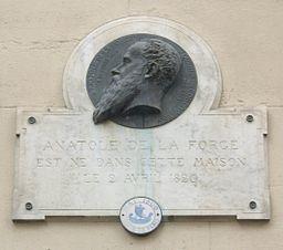 Plaque Anatole de la Forge, 1 cité de Trévise, Paris 9
