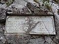 Plaque commémorative, chemin horizontal, Eaux-Bonnes, Pyrénées atlantiques DSC07754.jpg