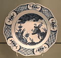 Plate with Kraak Design, c. 1752-1755, Chelsea, soft-paste porcelain with underglaze cobalt - Gardiner Museum, Toronto - DSC00694.JPG