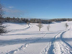 Le plateau de Retord en hiver