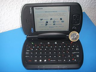 Pocket PC personal digital assistant (PDA), that runs the Windows Mobile operating system