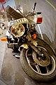 Police of Norway. Crashed wrecked BMW motorbike 1997 on exhibition. Coat of arms Emblem. Politiets eskorte og ryddetjeneste 1997. BMW Motorsykkel. Justismuseet, Trondheim 2019 DSC07241.jpg