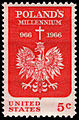 Polish Millennium 5c 1966 issue U.S. stamp.jpg