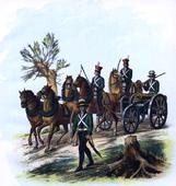 Polish artillery during Kościuszko Uprising