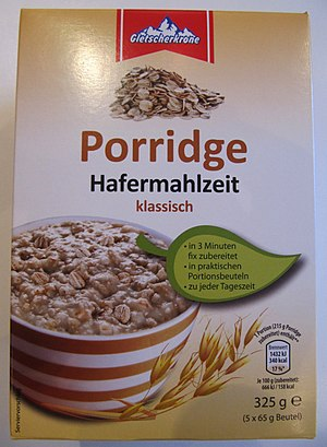 Porridge - Porridge as sold as a convenience product in German supermarkets