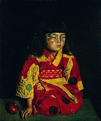 Ryūsei Kishida - Image: Portrait of Reiko Sitting by Kishida Ryusei (Pola Museum of Art)