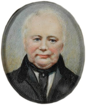 William Lawson (explorer) - ca. 1840s – watercolour on ivory miniature