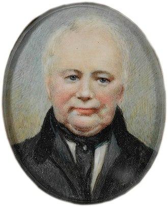 William Lawson (explorer) - ca. 1840s – watercolour on ivory miniature