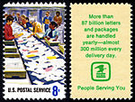 Postal Service Employees - Letter Facing - 8c 1973 issue U.S. stamp.jpg