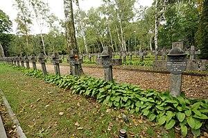 Powązki Military Cemetery - Image: Powazki wojskowe groby 1920