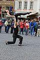 Prague Praha 2014 Holmstad - gateartister - street preformancers dancing.JPG