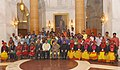 Pranab Mukherjee with the youths attending 7th Tribal Youth Exchange programme, organised by the Nehru Yuva Kendra Sangathan, at Rashtrapati Bhavan (3).jpg
