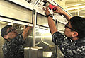 Pre-commissioning Unit Gerald R. Ford (CVN 78) Sailors renovate showcase berthing 150423-N-AO748-062.jpg